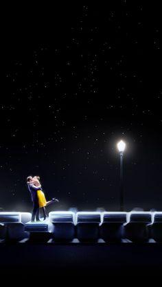 La La Land, Ryan Gosling, Emma Stone, couple in love, American actors Series Movies, Film Movie, Movies And Tv Shows, Ryan Gosling, Top Movies, Great Movies, Emma Stone, La La Land Art, Couple In Love