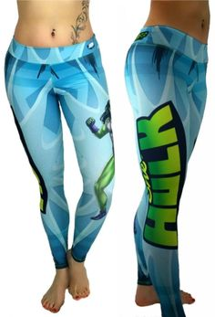 S2 Activewear - She Hulk Leggings Everyone loves the superhero, She-Hulk from the Marvel Comics universe! These super colorful and fun leggings fit great, last forever and will make your friends jealous! https://ronitaylorfitness.com/collections/s2-activewear/products/she-hulk-superhero-leggings