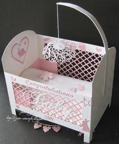 Baby Girl Paper Crib