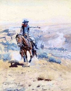 Pointing Out The Trail by Charles Marion Russell - Oil Painting Reproduction - BrushWiz.com