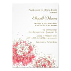 Pink Watercolor Peonies Custom Bridal Shower Invitation  #invites #invite #invitation #invitations #bridal #shower #bridalshower #wedding #weddings #custom #template #templates #customize #customizable #personalized #personalize #stylish #modern #design #professional #affordable #contemporary #peonies #peony #flowers #floral #spring #whimsical #watercolor #painting #pink #elegant #feminine #pretty #lovely #girly #classy #chic #light #white #clean #fresh