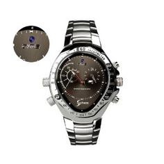 Watch Camera - 720p HD Video Recording Capability. Stylish Chrome Finishing, 4GB Internal Memory, Your Perfect Spy Watch. Video Recordings only, with genuine SPHERE logo imprint Review and Its Lowest Price