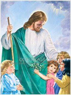 "Luke 18:16  But Jesus called for the children, saying, ""Let the little children come to me and do not try to stop them, for the kingdom of God belongs to such as these. NET    Image from the Pacific Press collection on GoodSalt.com."