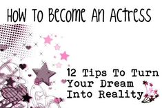 How To Become An Actress