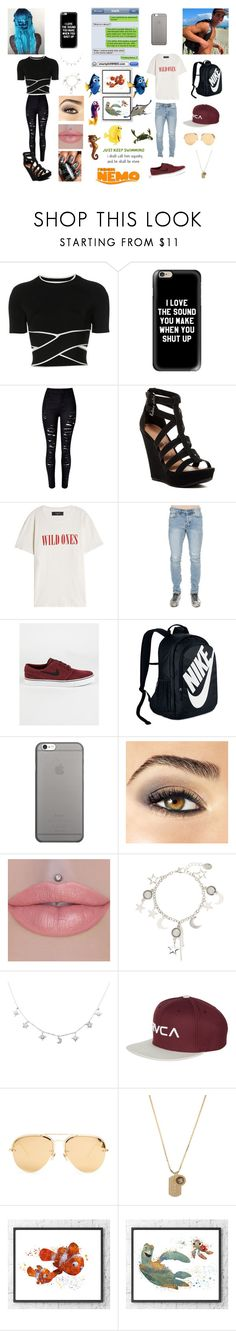 """""""Finding Nemo"""" by savannah1125-369 ❤ liked on Polyvore featuring T By Alexander Wang, Casetify, Chinese Laundry, AMIRI, NIKE, Native Union, Avon, RVCA, Linda Farrow and Versace"""