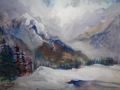 ARTIST MILLIE GIFT SMITH Original Landscape Signed Mountain [up to 30] 200-now #Expressionism