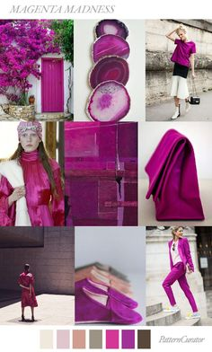 FASHION VIGNETTE: TRENDS // PATTERN CURATOR - MAGENTA MADNESS . AW 2...