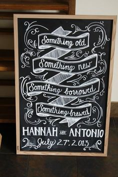Coolest sign ever for a wedding at a brewery by Chef Brittanny Anderson of Metzger bar & Butchery and Brenner Pass Richmond Va Fall Wedding, Diy Wedding, Rustic Wedding, Dream Wedding, Wedding Signage, Beer Wedding Invitations, Brewery Wedding Reception, Something Old, Here Comes The Bride
