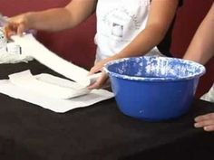 Body Molding & Belly Casting : Preparing Plaster for Belly Casting