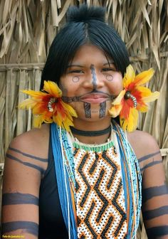 explore native brazilian brazilian art and Indian Tribes, Native Indian, Brazil People, Tribal People, Moda Emo, World Cultures, People Around The World, Traditional Dresses, American Indians