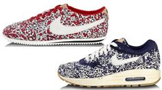 Liberty of London is pairing up with Nike for a number of new shoes this summer, including the Air Max 1, Cortez, Free 5.0, Dunk Sky High, Blazer and Hyperclave.