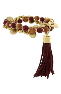 Vince Camuto 'Belle of the Bazaar' Tassel Beaded Bracelet available at #Nordstrom