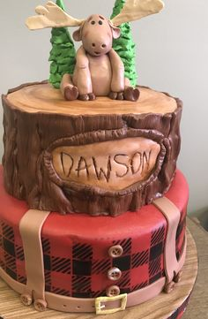 Gingerbread with Companion - HQ Recipes Lumberjack Cake, Lumberjack Birthday Party, Boys First Birthday Party Ideas, Baby Boy First Birthday, 15th Birthday, Baby Shower Cakes, Baby Shower Themes, Baby Boy Shower, Baby Cakes