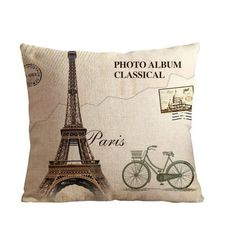 1AlexStore Pillowcase Standard 18x18 Inch two Sides Zippered Pillow Cover vintage bicycle and effiel tower in paris 1AlexStore http://www.amazon.com/dp/B012F3P3Y2/ref=cm_sw_r_pi_dp_nK2owb1KXBCFH