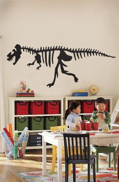 Dinosaur Wall Decal - very cool.  maybe they can have a music and dinosaur room!