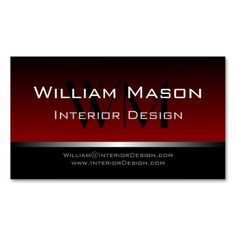 54 best red business cards images on pinterest professional red black stripe professional business card cheaphphosting Image collections