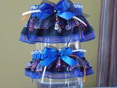 New York Mets Wedding Garter Set