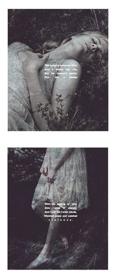 """""""The nymph forced Queen Juno To cast on her a spell And rid the poor, young Echo Of her awful voice from hell. Now all that she can say Is that which others have said And never now, again The thoughts within her head."""" #myth"""