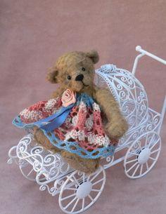 Artist Miniature Teddy Bear EPattern Inga by Megan by megbear99, $7.00