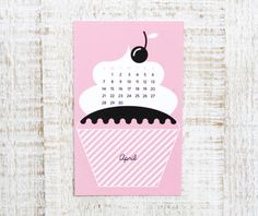 Calendrier 2013 sweet new year sur http://www.thetrendygirl.net