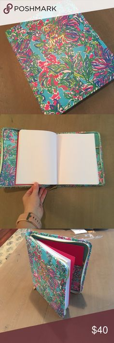 """Lilly Pulitzer travel journal New with tags the Lilly Pulitzer zip up travel journal in Shirley blue exotic escape. Says """" take me away"""" on the front. Lilly Pulitzer Other"""