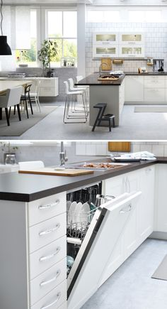 Bright, beautiful and open - click for more IKEA kitchen inspiration for your home!