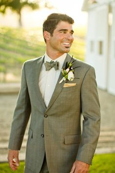 30 Cool Vintage Groom Outfits   Weddingomania I love the grey suit instead of a tux, still formal but not overly so if you're having a more casual wedding
