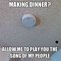 Making dinner? Allow me to play the song of my people