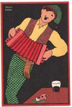 "Typical ""Saloio"" Man Sintra Portugal Costumes Art Old Postcard | eBay"