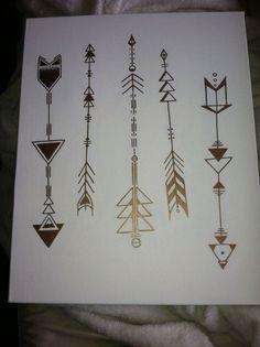 geometric arrow tattoos:                                                       …