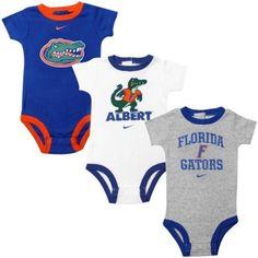 Buy Florida Gators Infant Creeper Set - White Ash Royal Blue from the  Official Store of the University of Florida Gators. e4e445709d6e