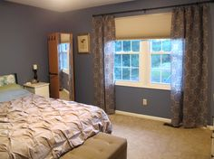 master bedroom window treatment ideas