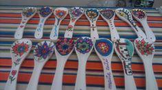 Posacucharas de cerámica pintadas a mano