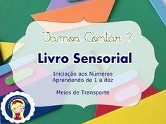 """Stúdio E.V.A.: Livro Sensorial """"Vamos Contar"""""""