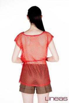 Playera. Modelo 18011. Precio $100 MXN #Lineas #outfit #moda #tendencia #2014 #ropa #prendas #estilo #outfit #primavera #shorts #playera