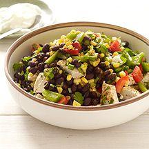 Southwestern Chicken Bean Salad