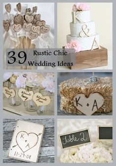 39 Rustic Chic Wedding Ideas http://weddingideasbyyou.com/2014/03/18/39-rustic-chic-wedding-ideas/ Follow Us on Pinterest -- http://www.pinterest.com/weddingideasbyu/