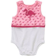 Garanimals Newborn Baby Girl Twofer Tank Bodysuit, Size: 6 - 9 Months, Pink Baby Girl Newborn, Onesies, 3 Months, Pink, Clothes, Tops, Products, Fashion, Moda
