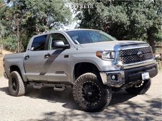 This 2019 Toyota Tundra is running Moto Metal wheels Nitto Ridge Grappler tires with ReadyLIFT Suspension Lift suspension. Toyota Tundra Lifted, Toyota 4x4, Toyota Trucks, Toyota Tacoma, Tundra Truck, Tyre Fitting, Future Trucks, Lifted Chevy Trucks, Wheels And Tires