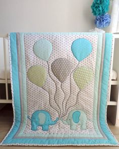 crafts for boys Elephant Baby Boy Quilt - Blue Grey Elephant Nursery Bedding - Elephant Crib Bedding - Baby Boy Blanket - Baby Shower Gift - Custom Made Quilt Baby, Baby Quilt Patterns, Elephant Nursery Bedding, Elephant Quilt, Crafts For Boys, Baby Crafts, Elephant Baby Boy, Grey Elephant, Baby Elefant
