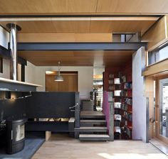 Secret hatches, moving walls and a sliding ladder all feature inside the Edinburgh home of architect Richard Murphy, which has been named RIBA House of the Year Commercial Architecture, Residential Architecture, Interior Architecture, Kinetic Architecture, Moving Walls, Georgian Homes, London House, Expensive Houses, House Stairs