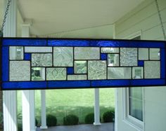Custom Stained Glass Window Transom by stainedglassfusion on Etsy