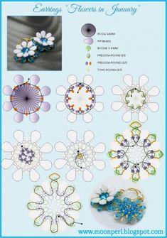 Схемы: Серёжки- цветочки