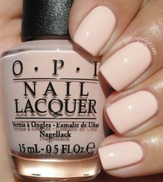 Opting for bright colours or intricate nail art isn't a must anymore. This year, nude nail designs are becoming a trend. Here are some nude nail designs. Opi Nails, Nude Nails, Manicures, Acrylic Nails, Opi Nail Polish Colors, Blush Nails, Toe Nail Polish, Light Pink Nail Polish, Pale Pink Nails
