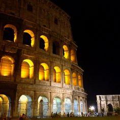 Colloseum by night, Rome, Italy