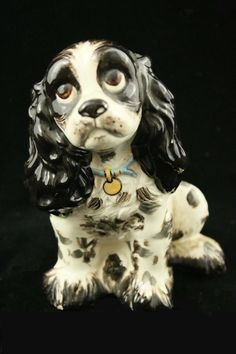 Hagen Renaker miniature Made in America dog Cocker Spaniel Pup sitting up