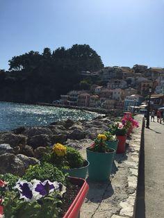 Parga Greece boulevard seawalk Spring Time, Greece, Spain, Italy, Summer, Beautiful, Greece Country, Italia, Summer Time