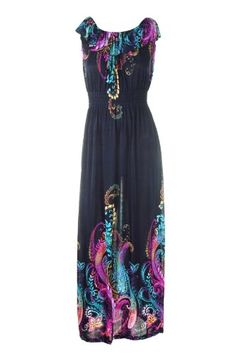 Colorful Women Dress Floral Graphic Print Maxi « Clothing Adds Anytime