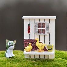 1 pcs pato Artificial parede de fadas gnomos de jardim mini miniaturas musgo terrários estatuetas de resina para a decoração do jardim(China (Mainland))