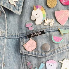 If you fancy picking up one of these awesome 'maker' badges head over to @en. To grab one in @elenangharad.co s moving sale! Along with some other fun goodies!